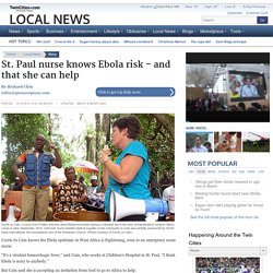 Paul nurse knows Ebola risk - and that she can help