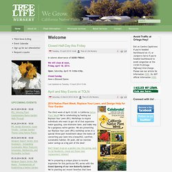 Tree of Life Nursery California Native Plants - Welcome
