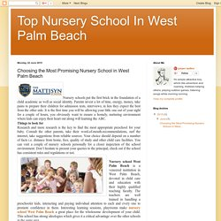 Secure and Promising Pre K School in West Palm Beach