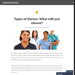 Types of Nurses- What will you choose? – marcaresasco