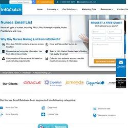 Nurses Email List - Registered Nurses Email Database