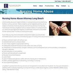 Nursing Home Abuse Attorney Long Beach