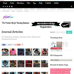 Nursing Journal Articles- Open-Access Links to Peer-Reviewed Sources