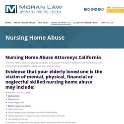 Hire Moran Elder Law for your Nursing home Abuse Case