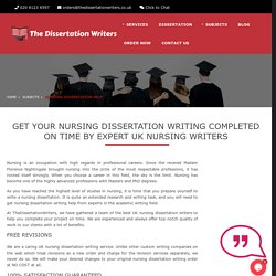 Nursing Dissertation Help, Nursing Dissertation Writing Service