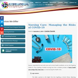 Nursing Care: Managing the Risks of COVID-19
