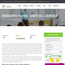 Nursing Paper Writing Service - Buy Nursing Paper