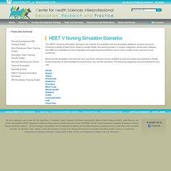 HEET V Nursing Simulation Scenarios