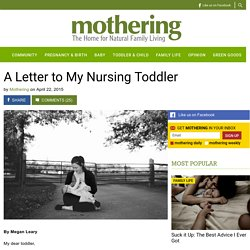 A Letter to My Nursing Toddler - Mothering