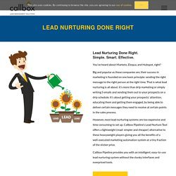 Lead Nurture Tool - Callbox - B2B Lead Generation