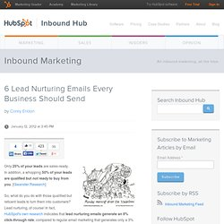 6 Lead Nurturing Emails Every Business Should Send
