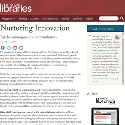 Nurturing Innovation
