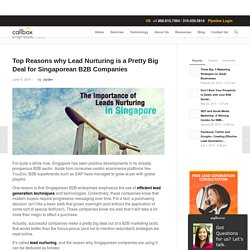 Top Reasons why Lead Nurturing is a Pretty Big Deal for Singaporean B2B Companies
