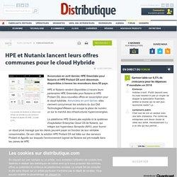 HPE Greenlake pour Nutanix et Proliant DX disponibles dans 50 pays