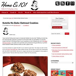 Nutella No Bake Oatmeal Cookies