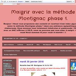 Maigrir avec la méthode Montignac phase 1.: Nutella bas IG :Nutignac hi hi hi !!!!!