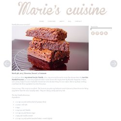Nutella Brownies revisited - Marie's Cuisine