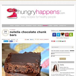 nutella chocolate chunk bars