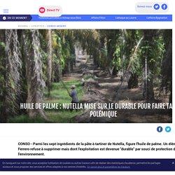 Huile de palme : Nutella mise sur le durable pour faire taire la polémique - LCI