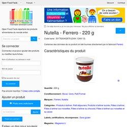 Nutella - Ferrero - 220g