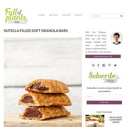 Nutella Filled Soft Granola Bars - Full of Plants