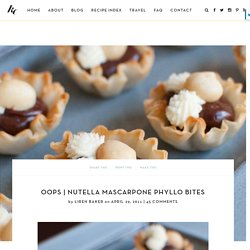 Nutella Mascarpone Phyllo Bites