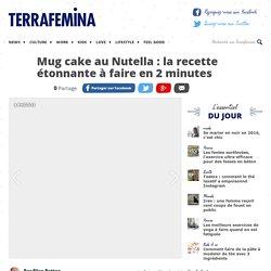 Mug cake au Nutella : la recette étonnante à faire en 2 minutes