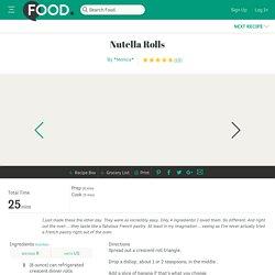 Nutella Rolls Recipe