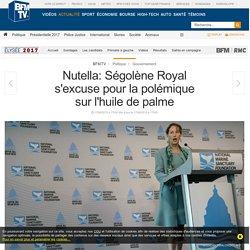Nutella: Ségolène Royal s'excuse pour la polémique sur l'huile de palme
