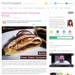 Nutella Cream Cheese Turnovers