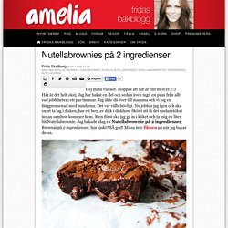 Nutellabrownies på 2 ingredienser