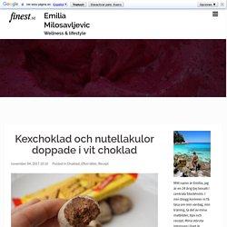 Kexchoklad och nutellakulor doppade i vit choklad – Emilia Milosavljevic