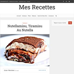 Nutellamisu, Tiramisu Au Nutella