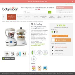 Easy to Use Nutribaby Food Steamer and Blender by Babymoov