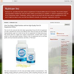Give Your Body a Right Nutrition with the High-Quality Fish Oil Supplement Online