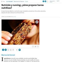 Nutrición y running: ¿cómo preparar barras nutritivas? - 16.09.2016 - LA NACION
