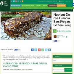 Nutrient-Dense Vegola Granola Bars [Vegan, Gluten-Free]