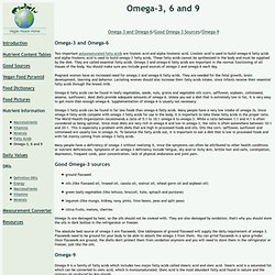 Nutrient Information - Omega-3, 6 and 9