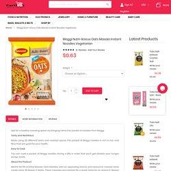 Buy Maggi Nutrilicious Oats Masala Noodles Vegetarian Online
