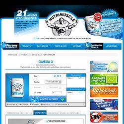 Oméga 3 Nutrimuscle - 120 CAPSULES : 27.50€ + livraison gratuite.