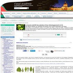 Le besoin nutritif des plantes et leur développement (1/2)