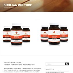Holistic Nutrition and ActivatedYou