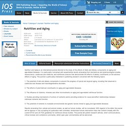 Nutrition and Aging | IOS Press
