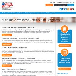 Nutrition & Wellness Certification Programs