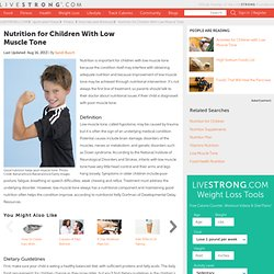 Nutrition For Children With Low Muscle Tone