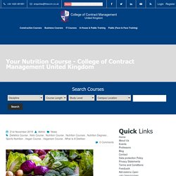 Your Nutrition Course - College of Contract Management United Kingdom