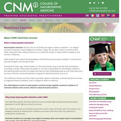 Nutrition Courses (Diploma) - Become a nutritionist: