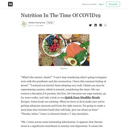 Nutrition In The Time Of COVID19 - Healthy Healing Eats - Medium