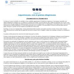 FAO - LA NUTRITION DANS LES PAYS EN DÉVELOPPEMENT