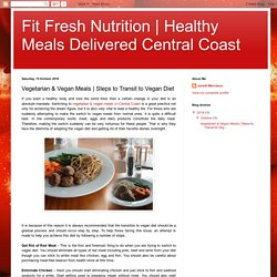 Healthy Meals Delivered Central Coast: Vegetarian & Vegan Meals
